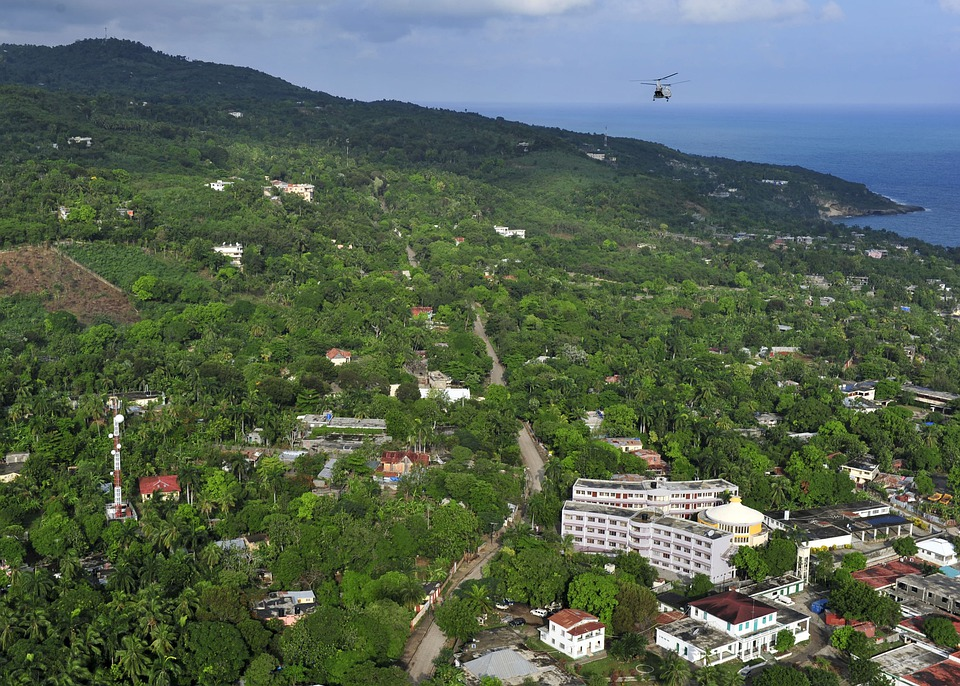 Port Au Prince, Haiti, Krajobraz, Góry, Las, Drzewa