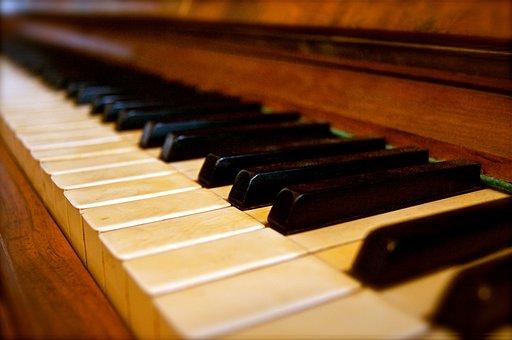 Tasten, Klavier, Alt, Historisch, Musik