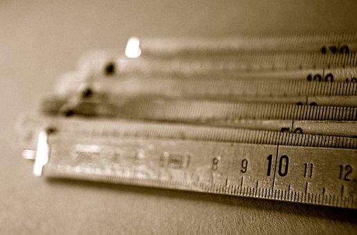 Zahl, Ziffer, Zollstock, Messen, Maß