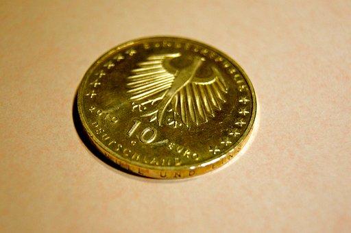 ユーロ, 10, お金, コイン, ヨーロッパ, インフレ, デフレ, 銀行