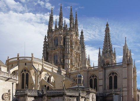 Burgos, España, Cielo, Nubes