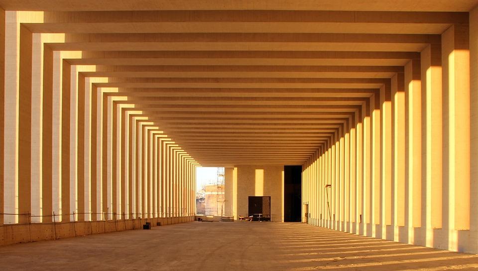 Building, Structure, Foundation, Girders, Columns