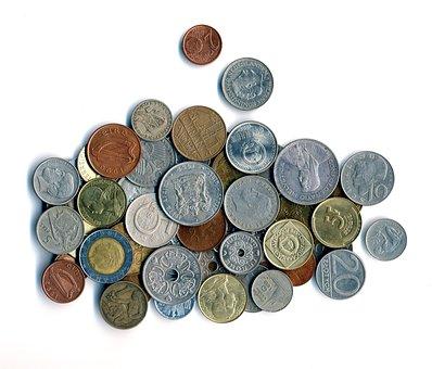 Geld, Münzen, Währung, Metall, Alt