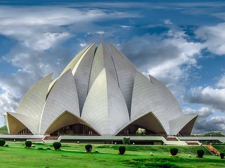 Temple, Lotus Temple, Architecture