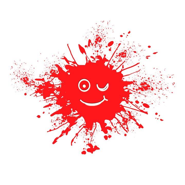 Kleks Farbkleks Rot - Kostenloses Bild auf Pixabay