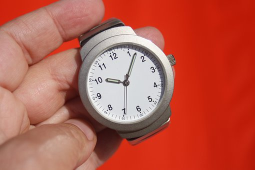 Clock, Time, Stopwatch, Wrist Watch