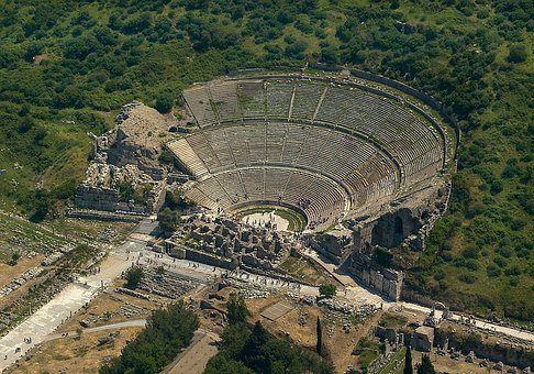 Ephesus Turkey Greek Theatre Tourist Touri