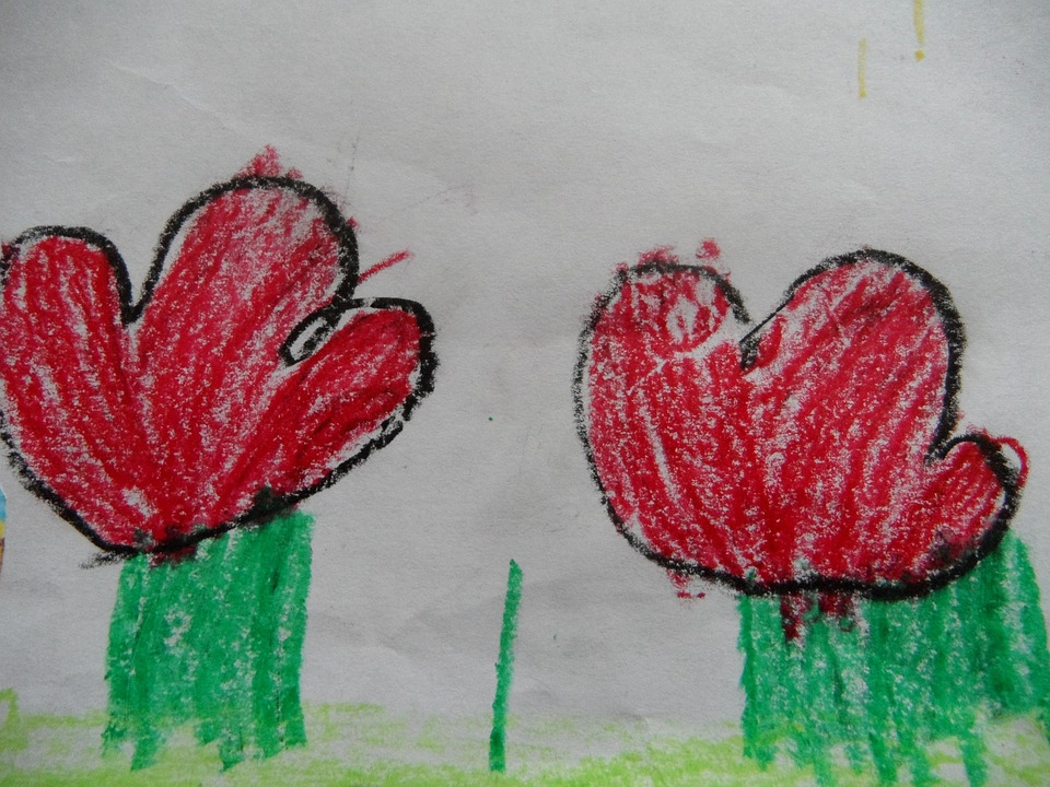 Kvetiny Deti Kresba Cervene Kvety Fotografie Zdarma Na Pixabay