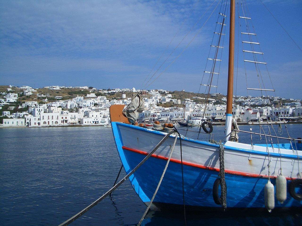 Mykonos town port