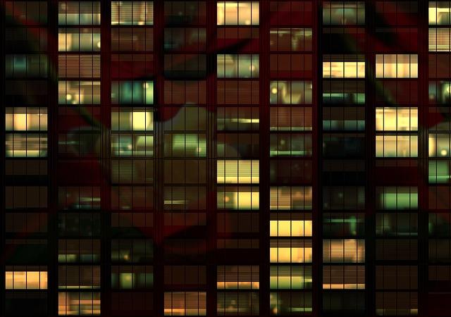 Office Building Night · Free photo on Pixabay