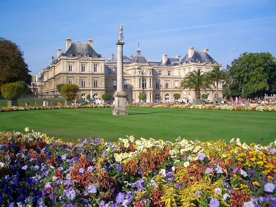 jardin du luxembourg paris france palace building - Jardin Du Luxembourg Paris