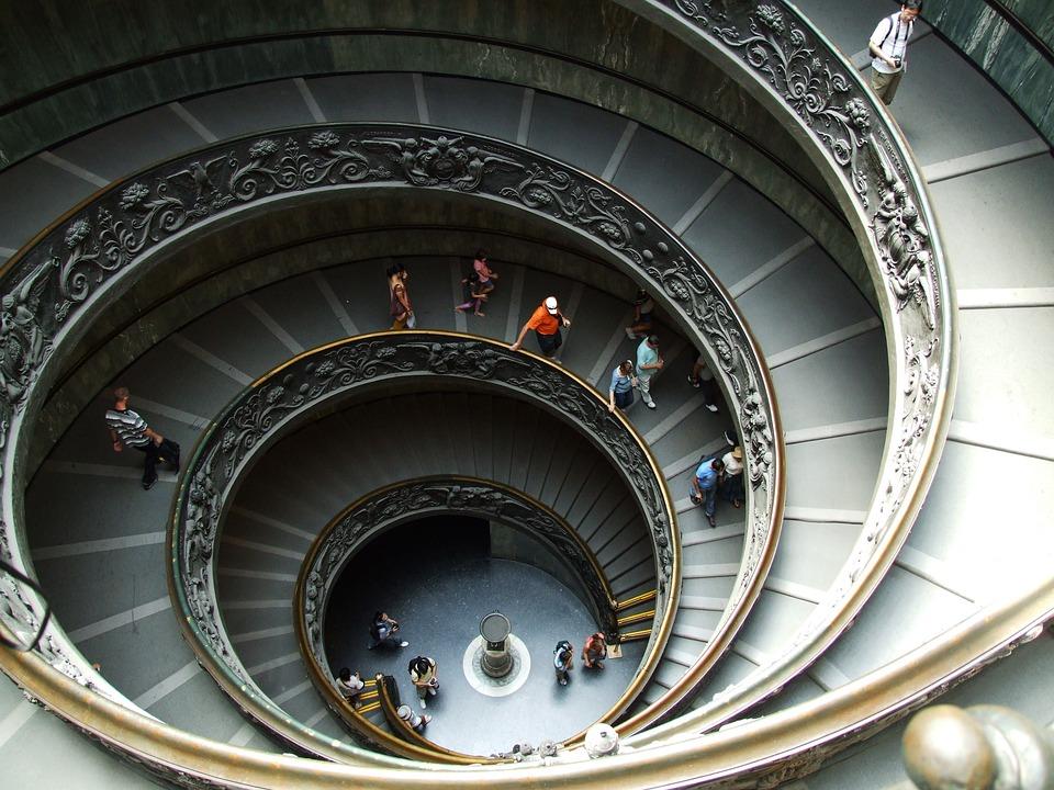 サン・ピエトロ大聖堂の螺旋階段です。