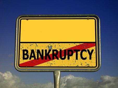 町に署名, 破産, 倒産, 流動性, ビジネス タスク, バスト, 破滅, 障害