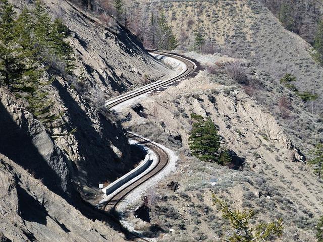 Levers Train Tracks O N : Train tracks winding canyon fraser · free photo on pixabay
