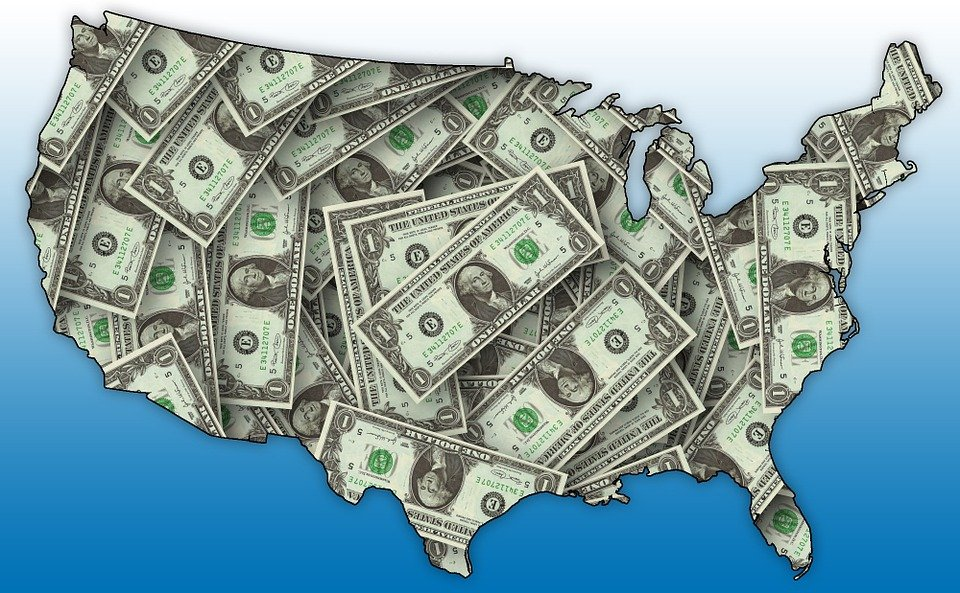 Free Illustration Usa Map Outline Dollar Currency Free - Us money map