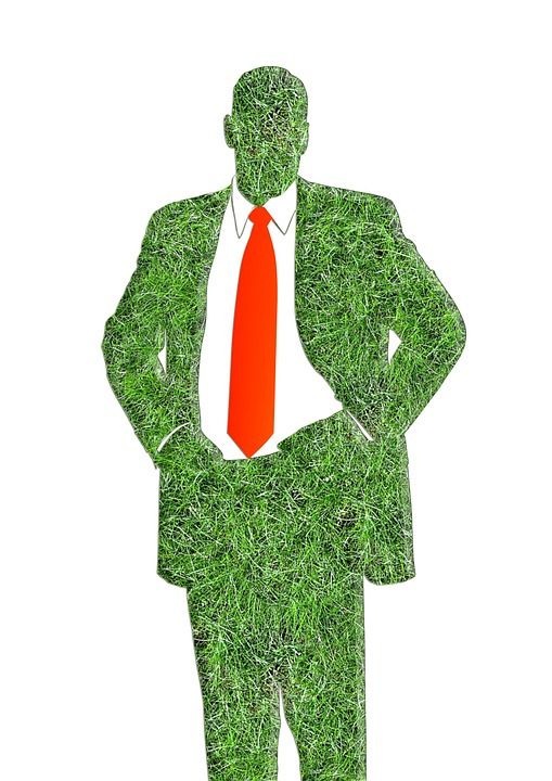 Man, Silhouette, Red, Green, Grass, Policy, Suit, Tie