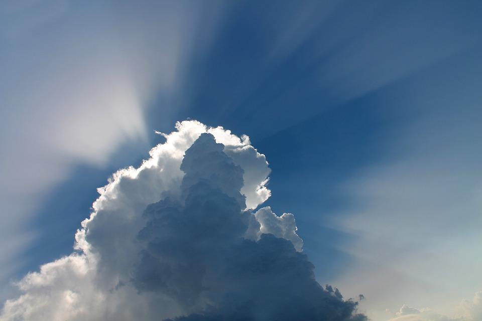 Wolken, Hemel, Sfeer, Zonnestralen, Cumulus
