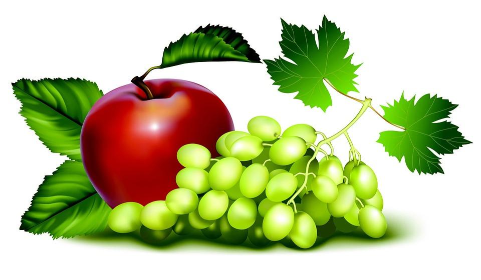 Ovoce, Hrozny, Jablko