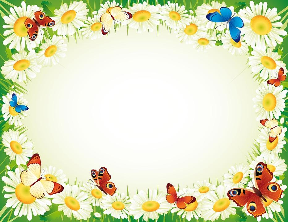Gratis illustration ram fj ril blomma gratis bild p for Free garden border designs