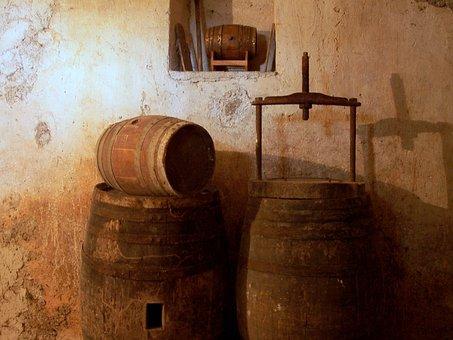Cave, Vin, Botte, Tonneaux De Vin