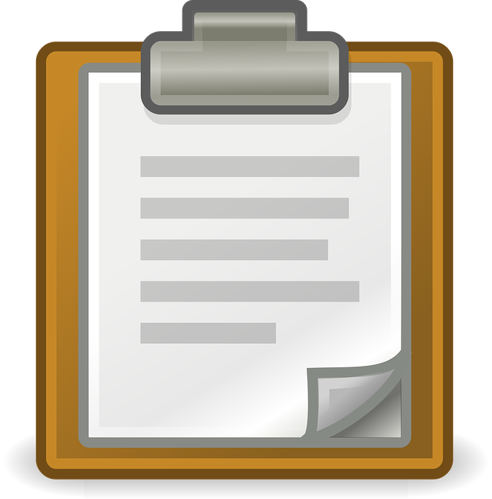signing a document on clipboard