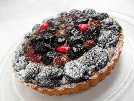 Cake Fruit Cherry Sweet Tart Cherries Dess