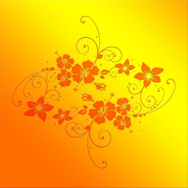 Illustration gratuite fleurs dessin floral flora jaune - Dessin de fleur en couleur ...