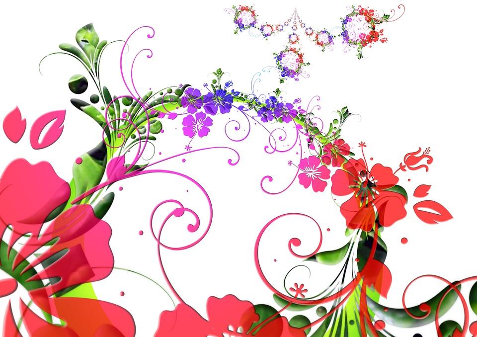 Fleurs dessin floral flora image gratuite sur pixabay - Fleurs en dessin ...