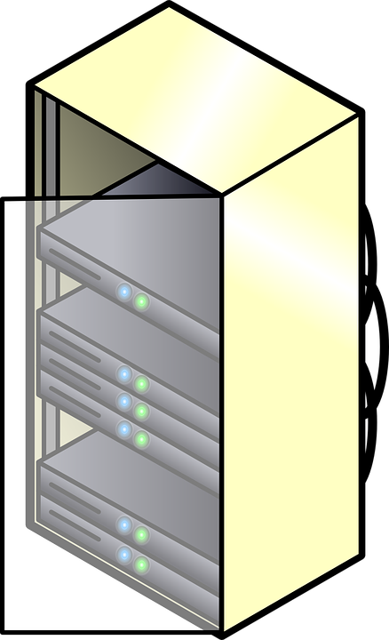 Gambar Vektor Gratis Server Gunung Ikon Rak Komputer Awan Lemari