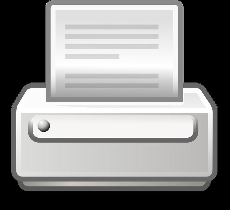 Printer Print Document 183 Free Vector Graphic On Pixabay