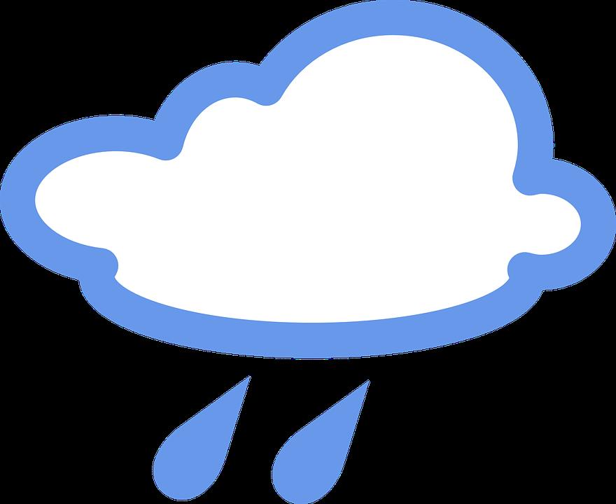 Bulutlu Yagmurlu Yagmur Pixabay Da Ucretsiz Vektor Grafik