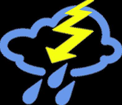 La Foudre, Tonnerre, Nuageux, Pluies