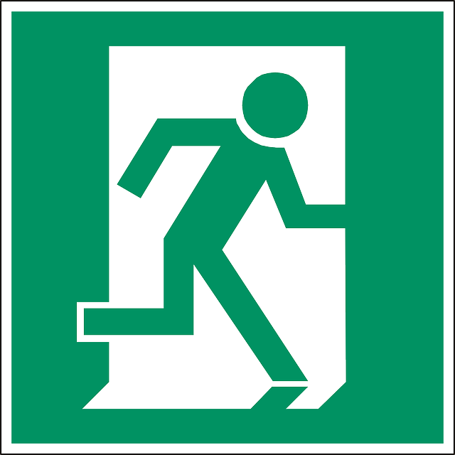 Emergency Exit Door 183 Free Vector Graphic On Pixabay