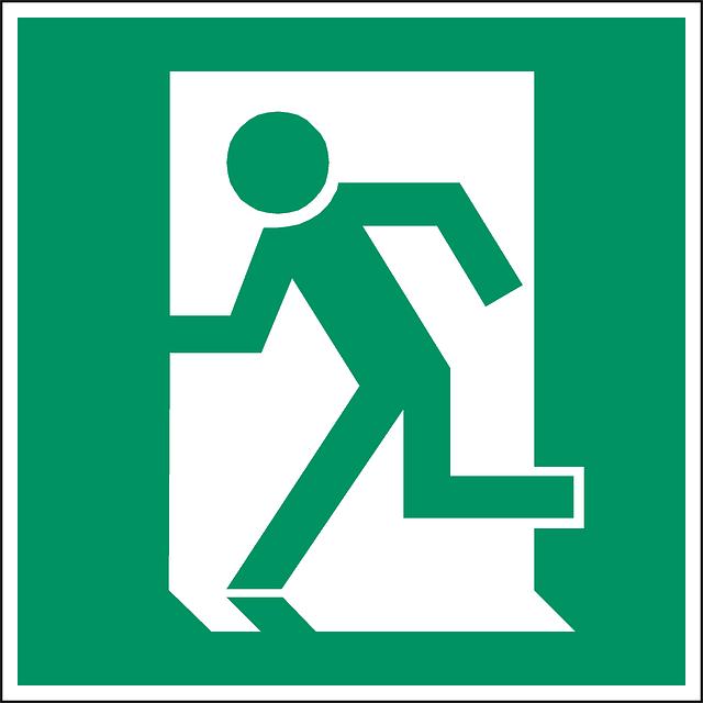Free Vector Graphic Exit Emergency Exit Door Way