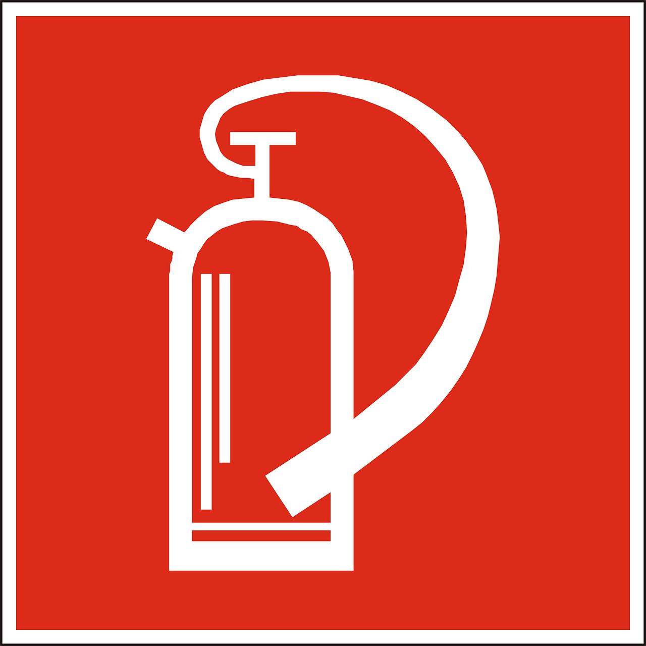 灭火器,手提式灭火器,消防水幕,红色,迹象,符号,图标