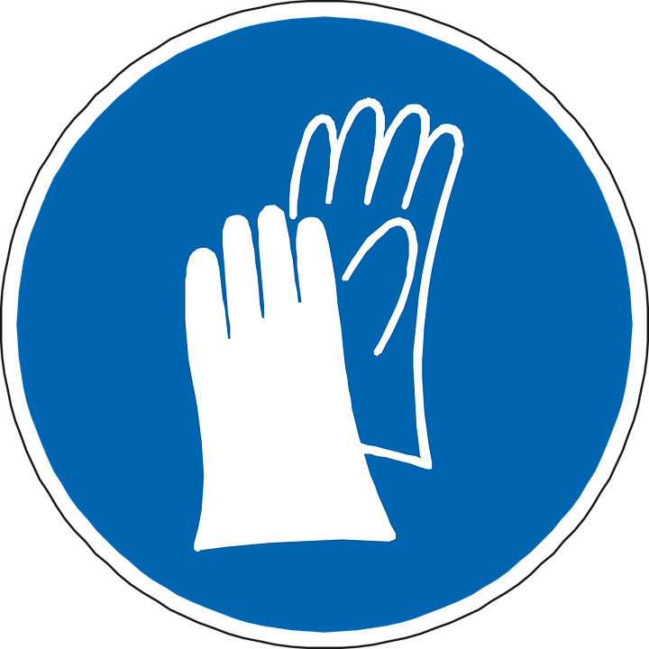 Hand Protection Gloves Blue Free Vector Graphic On Pixabay