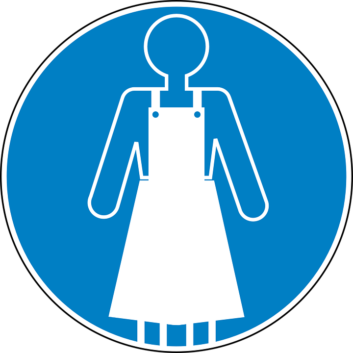 free vector graphic apron safety blue sign symbol