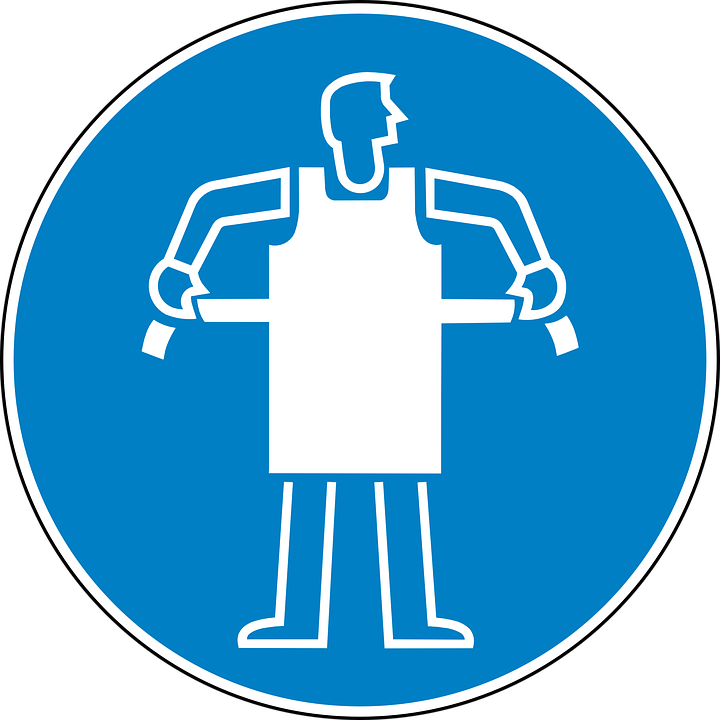 free vector graphic apron safety required free image