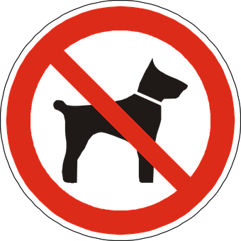 Dogs, Prohibited, Forbidden, Not Allowed