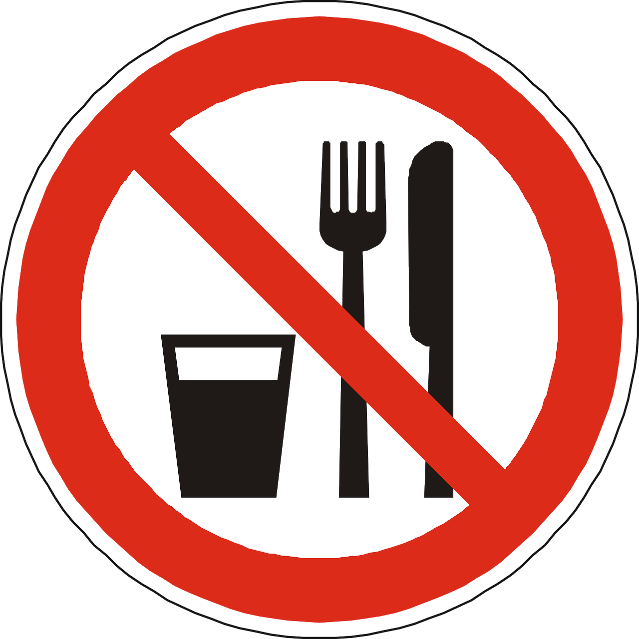 Makan Minum Dilarang Tidak Gambar Vektor Gratis Di Pixabay