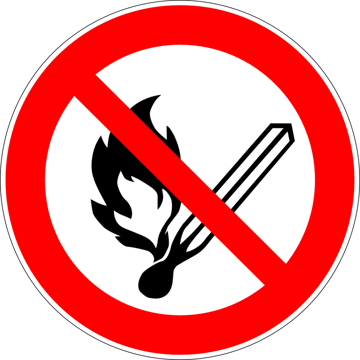 Fire Open Flames Prohibited 183 Free Vector Graphic On Pixabay