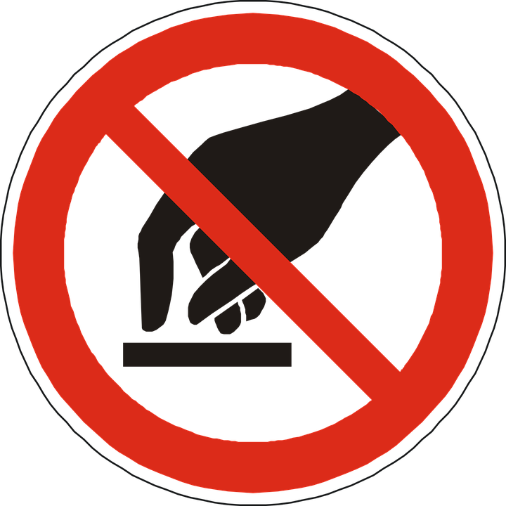 free vector graphic no touching prohibited forbidden