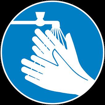 Wash Hands, Clean, Blue, Sign, Symbol