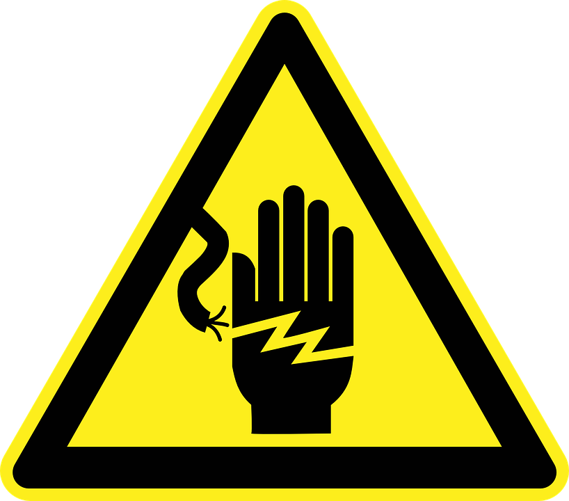 Electricity Wired Wire Cable Hand Electric Shock