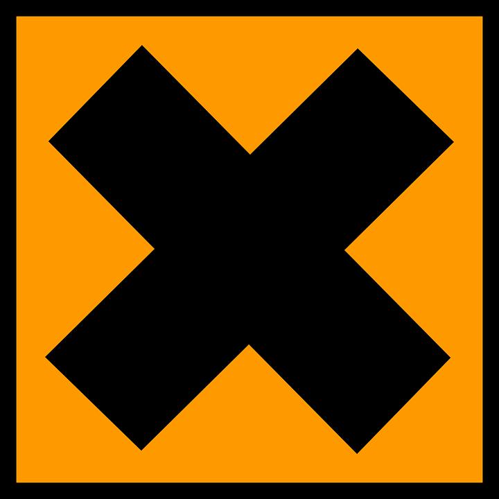 Irritant, Danger, Warning, Orange, Sign, Symbol, Icon