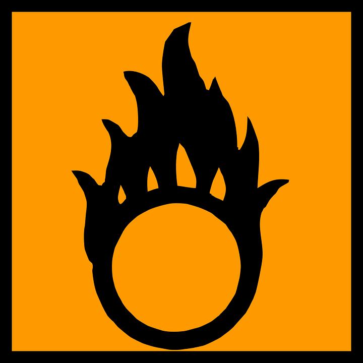 Oxidizer, Oxidant, Flame, Fire, Burning, Danger