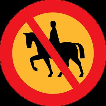 No Riding, Road Sign, Roadsign