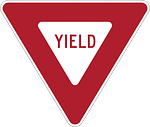 yield, give way, road sign