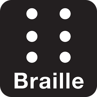 Braille, Barrier-Free, Black, Symbol