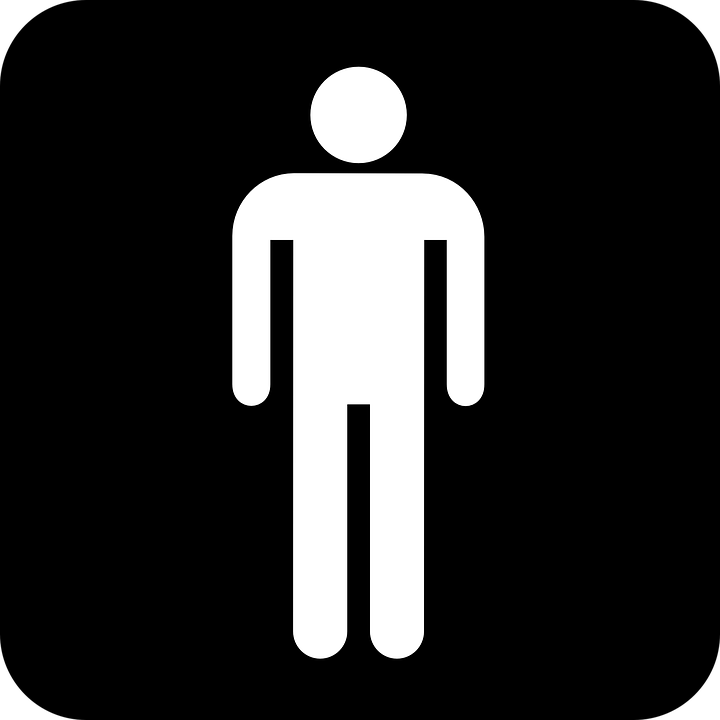 Man Men Human Wc Toilet Symbol Sign Icon